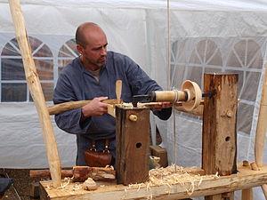Woodturning - Pole lathe