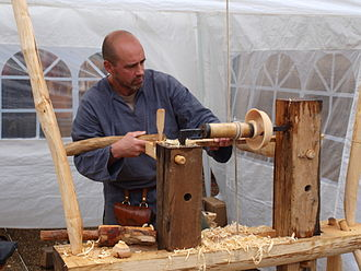 Woodturning - Pole lathe