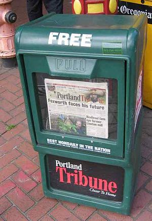 Portland Tribune - Tribune newspaper box
