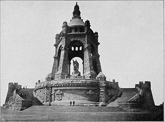Emperor William Monument (Porta Westfalica) - the memorial circa 1909