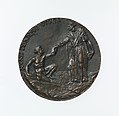 Portrait medal of Paolo Giovio (obverse); Giovio Raising a Man from a Grave (reverse) MET DP-1241-020.jpg