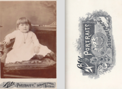 Portrait of child by Ritz of Temple Place in Boston USA.png