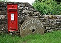 Post box by Countersett Hall - geograph.org.uk - 1380847.jpg