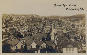 Pitcairn, Pennsylvania - Bird's eye view of Pitcairn, about 1909