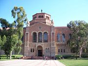 Powell Library, located across the quad from Royce Hall.