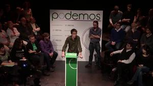 Íñigo Errejón - Errejón at the presentation of Podemos in January 2014