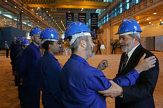 Luiz Inácio Lula da Silva - Lula on a visit to the Brazilian Aluminium Company