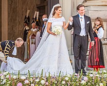 Princess Madeleine Of Sweden And Christopher O Neill In Their Wedding Clothes Stockholm 2017