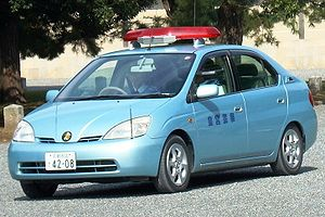 Toyota Prius of the Imperial Guard patorols th...