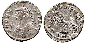 Imperial crown - Image: Probus Coin