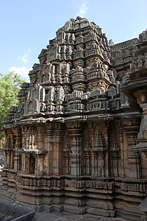 Profile of the vimana (sanctum outerwall and tower) of the Siddhesvara temple at Haveri 2