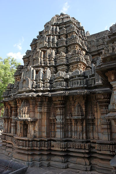File:Profile of the vimana (sanctum outerwall and tower) of the Siddhesvara temple at Haveri 2.JPG