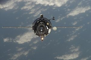 Progress M-63 - Progress M-63 approaching the ISS