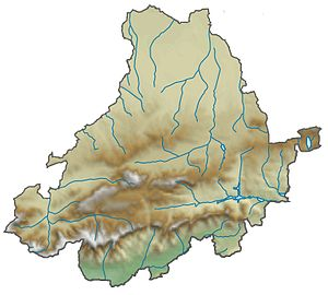 Province of Ávila - Relief map