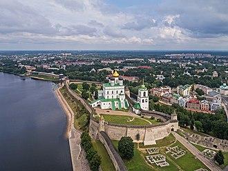 Pskov Krom - Aerial view