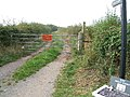 Public footpath from Saughall Massie Road to Frankby - geograph.org.uk - 49508.jpg