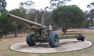 BL 5.5-inch Medium Gun - BL 5.5 inch Mk3 at Puckapunyal.