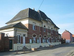 Puisieux, Pas-de-Calais - The town hall of Puisieux