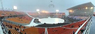 Pyeongchang Olympic Stadium - The stadium during the 2018 Winter Paralympics opening ceremony