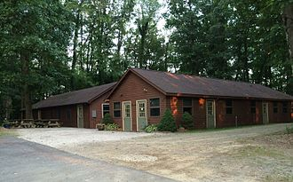 Pymatuning Laboratory of Ecology - Lab buildings at the Sanctuary Lake Site