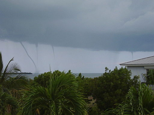 Quadruple Waterspout Summerland Key June 5, 2009