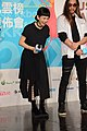 Queen Wei and Lin Dajun at KKBOX Music Awards press conference 20140212.jpg