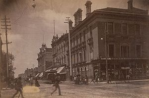 Queen Street West - Looking west along Queen Street from Yonge Street, circa 1885