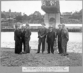 Queensland State Archives 3643 Inspection of bridge by His Excellency The State Governor Sir Leslie Orme Wilson Major A V Stark Mr J A Holt Mr R Clark Mr M R Hornibrook Dr Bradfield and Mr A J Deakin 7 July 1938.png