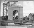 Queensland State Archives 3751 South anchor pier erection of 40 ton supply crane Brisbane 4 August 1938.png