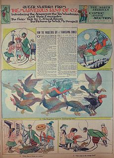 <i>Queer Visitors from the Marvelous Land of Oz</i> Newspaper comic strip by L. Frank Baum