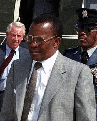 Vice-President of Botswana - Image: Quett Masire detail DF SC 85 12044