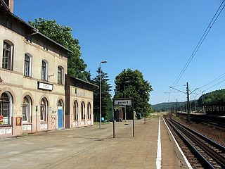 railway station in Reda, Poland