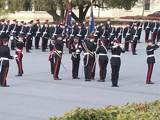 Military academy - A graduation parade of the Royal Military College, Duntroon.