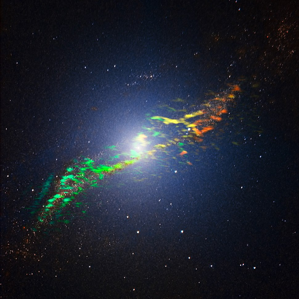 Radio galaxy Centaurus A by ALMA