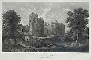 Raglan Castle, from the Terrace