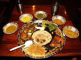 Rajasthani cuisine - Rajasthani thali