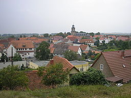 Blick über die Stadt Rastenberg (Thüringen).