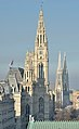 Rathaus & Votivkirche from Palace of Justice 02, Vienna.jpg