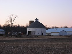The Rebecca Rankin Round Barn, a township landmark