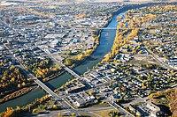 Red Deer - Aerial - downtown bridges.jpg