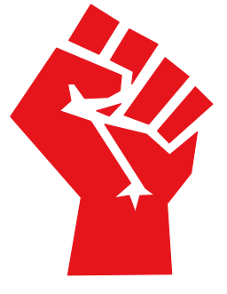 Red stylized fist