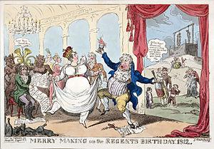 George Cruikshank - Merry Making on the Regent's Birthday 1812