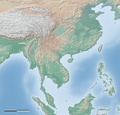 Relief map of southern East Asia and northern Southeast Asia.png