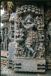 Relief sculpture at Keshava temple in Somanathapura1.jpg