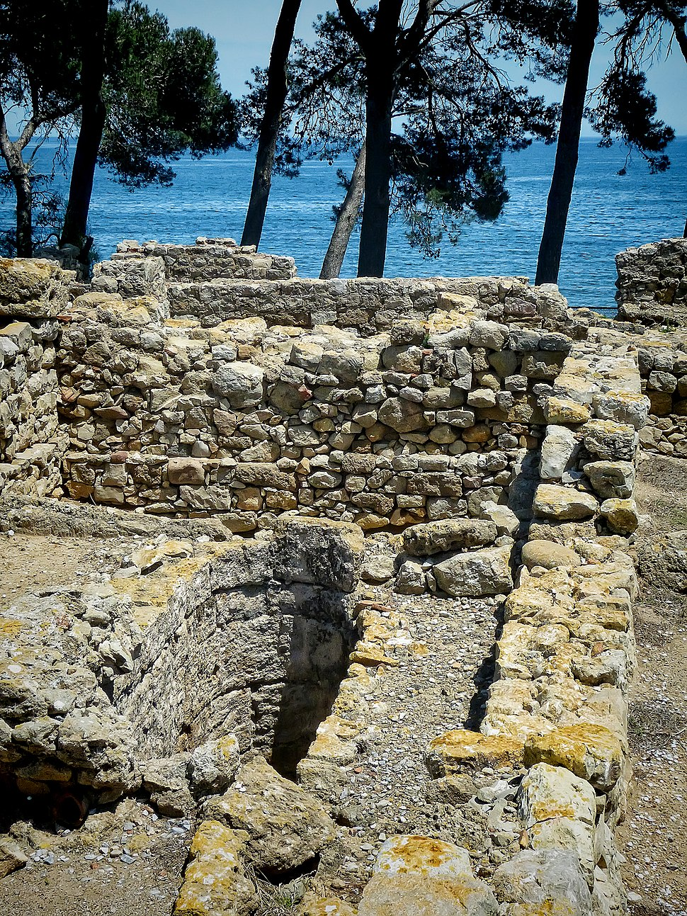 Remains of a cistern in the ancient Greek city of Neapolis in the archaeological site of Empúries