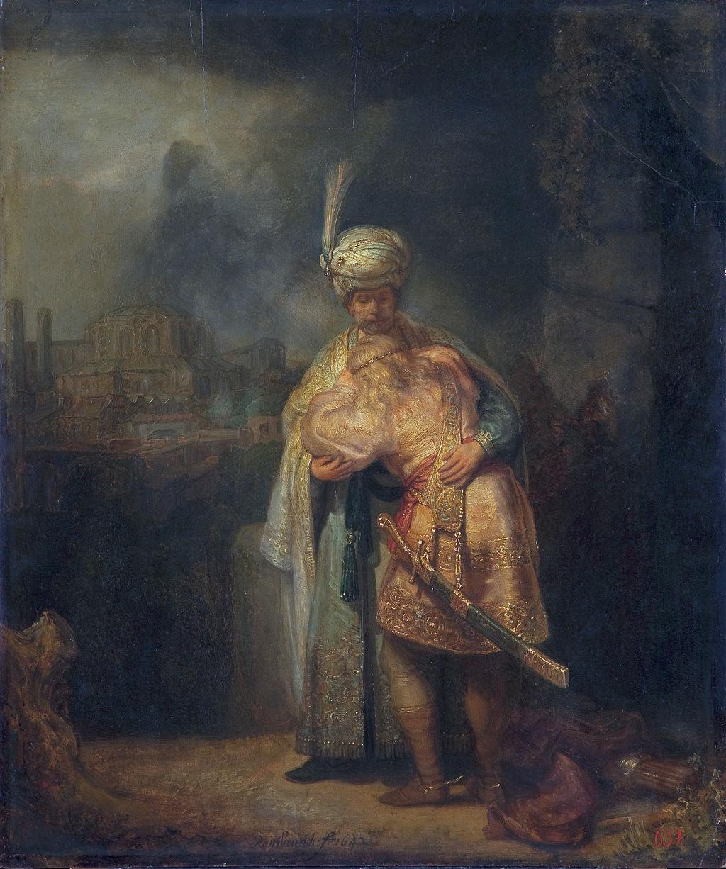 다윗과 요나단 (렘브란트, Rembrandt Harmenszoon van Rijn, 1642년)