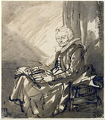 Seated Woman with an Open Book on her Lap