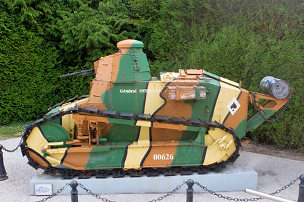French troops used a handful of World War I-era Renault FT tanks during the conflict. Renault FT17 IMG 8414.jpg