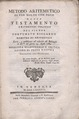 Riccardo - Metodo aritmetico di far molto con poco, 1787 - 4672162.tif