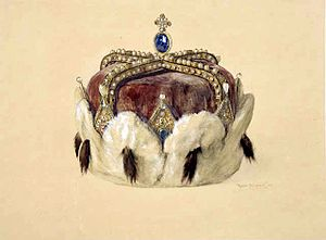 Archducal hat - Drawing of the archducal hat